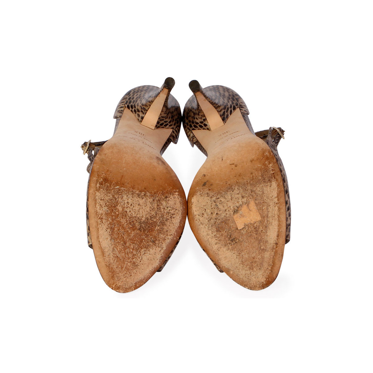 1ea32df0ced3 JIMMY CHOO Snake Skin Ankle Strap Open Toe Sandals - S  38.5 (5.5 ...