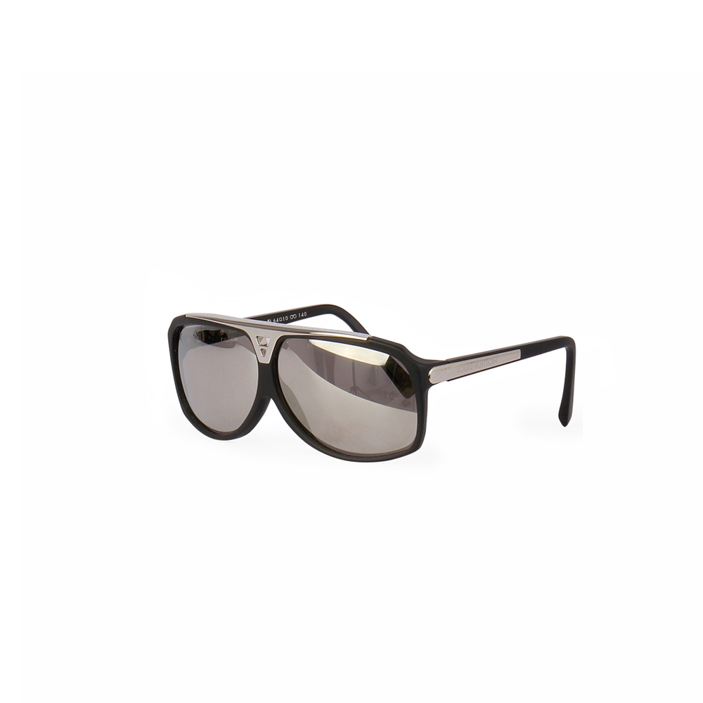9697425e47 LOUIS VUITTON Evidence Sunglasses Black Silver 93L - NEW