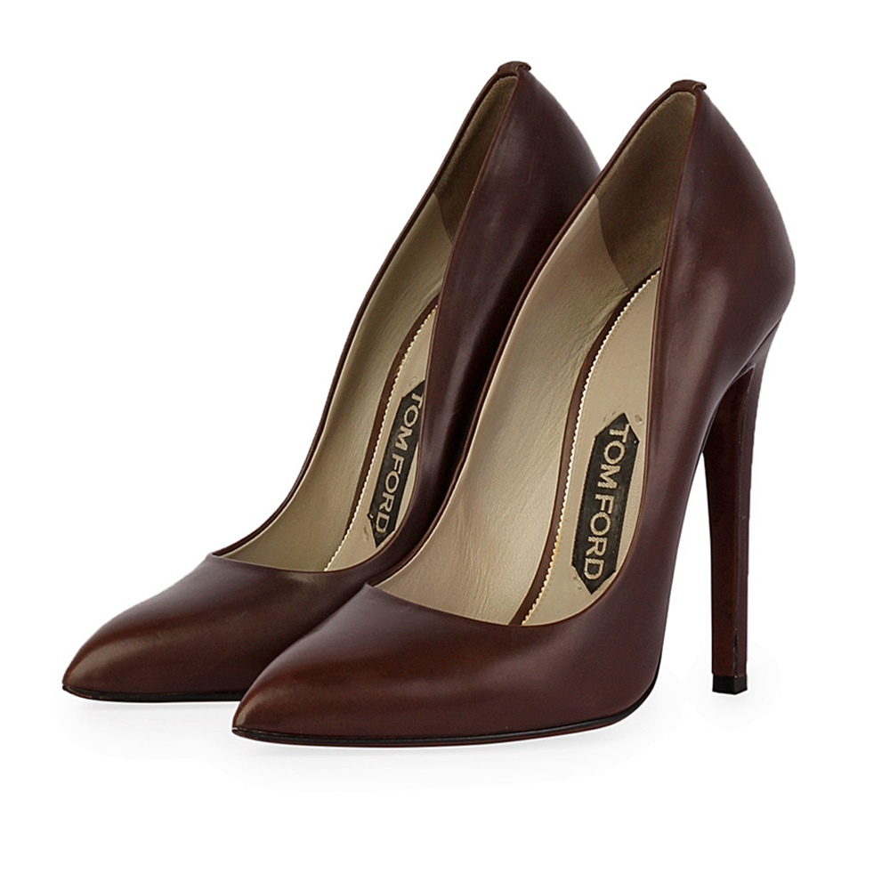 93db5e629d TOM FORD Leather Pointed Toe Pumps - S: 35.5 (3) | Luxity