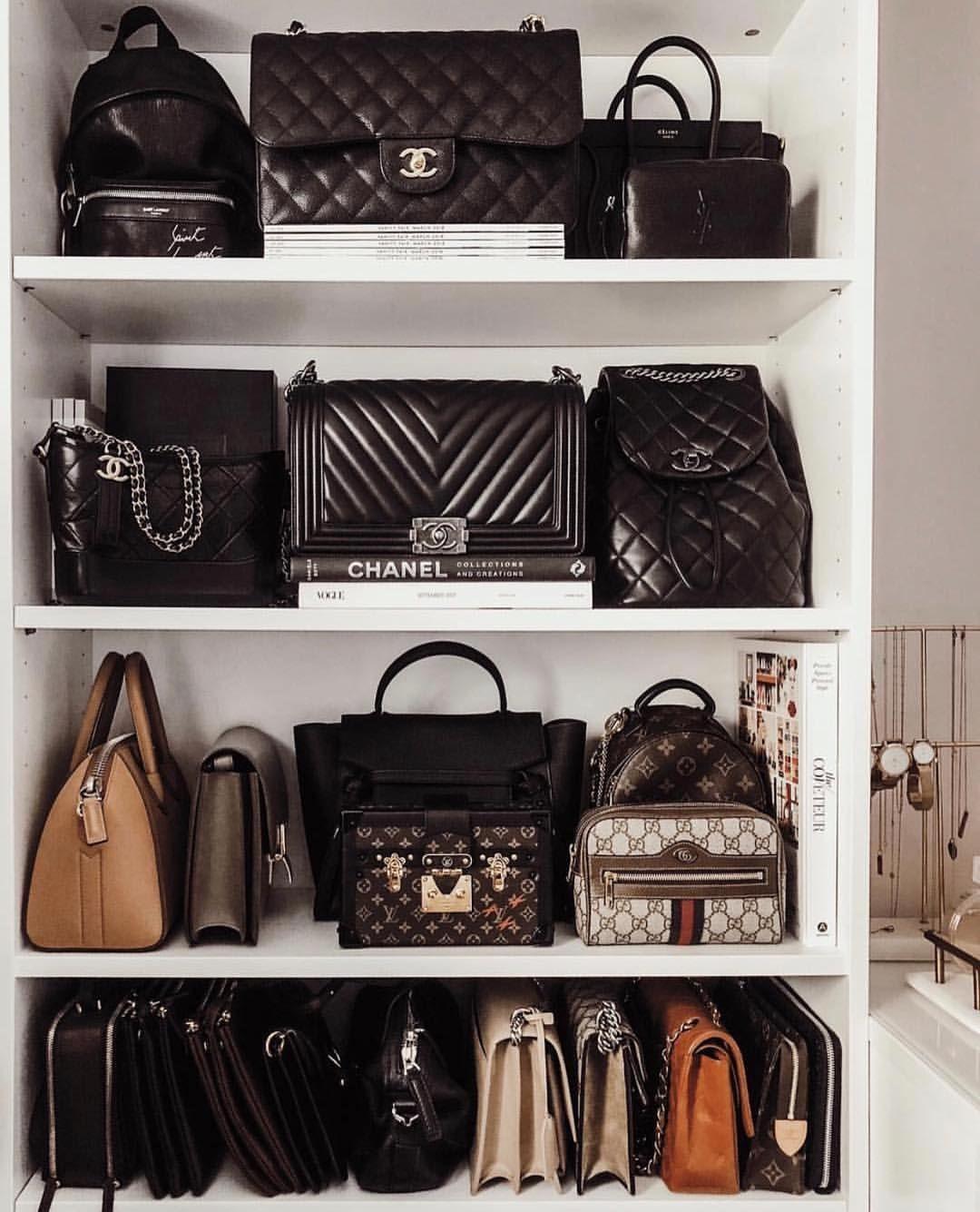 Black Designer Bag Closet