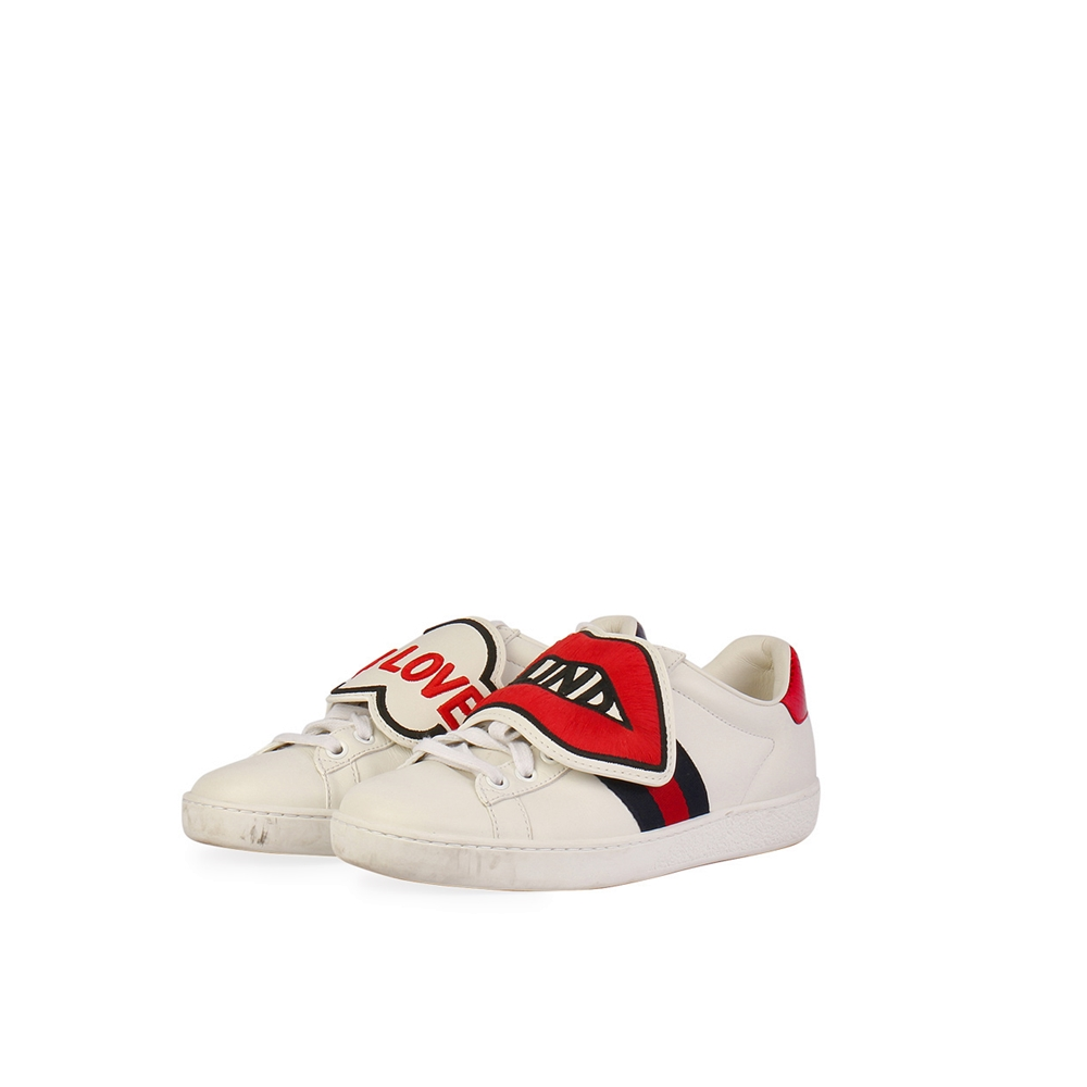 b3071c1d17f GUCCI Web Ace Sneakers with Removable Patches – S: 34.5 (2) | Luxity