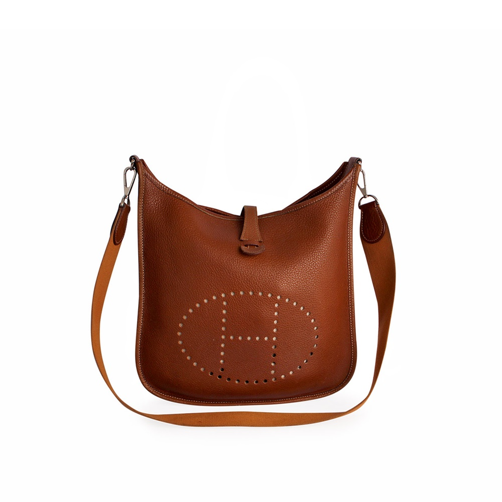 ... where can i buy hermes leather clemence evelyne shoulder bag brown  7e204 4e32d 8323db1e1a68c