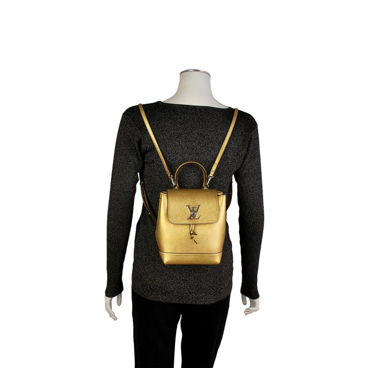 d217409d85580 LOUIS VUITTON Mini Lockme Backpack Gold
