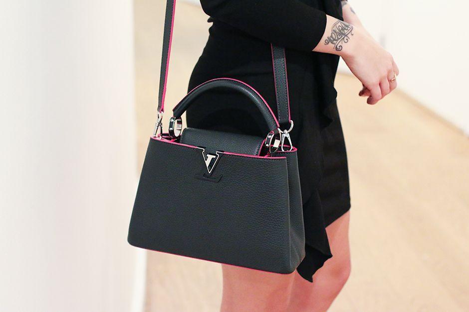 Black Capucines handbag