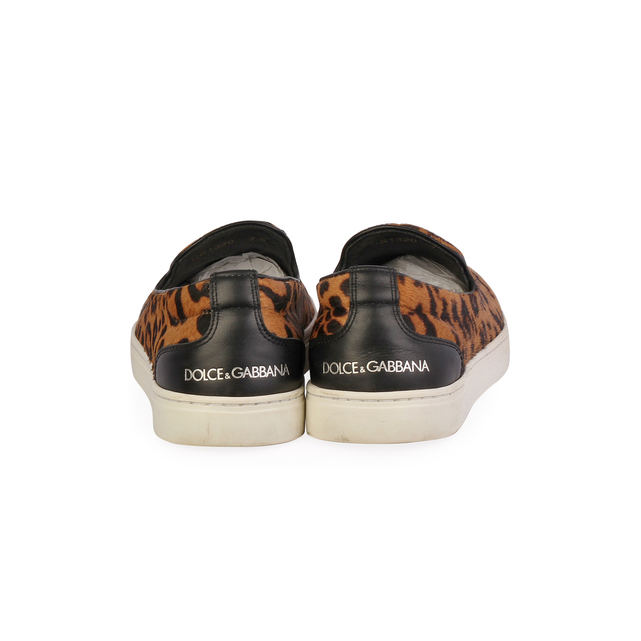dolce and gabbana leopard sneakers