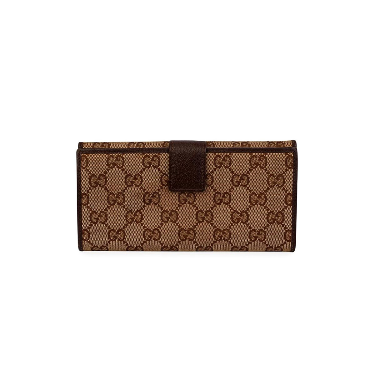 0d49a9dc6536 GUCCI GG Continental Wallet Brown | Luxity