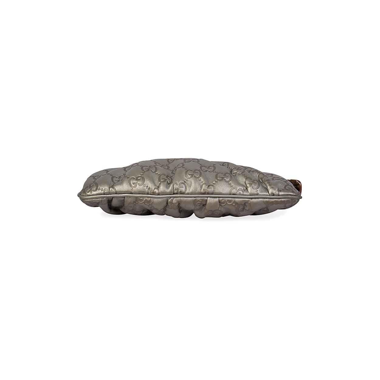 37d0dddd5ee GUCCI Guccissima Wristlet Silver - bottom