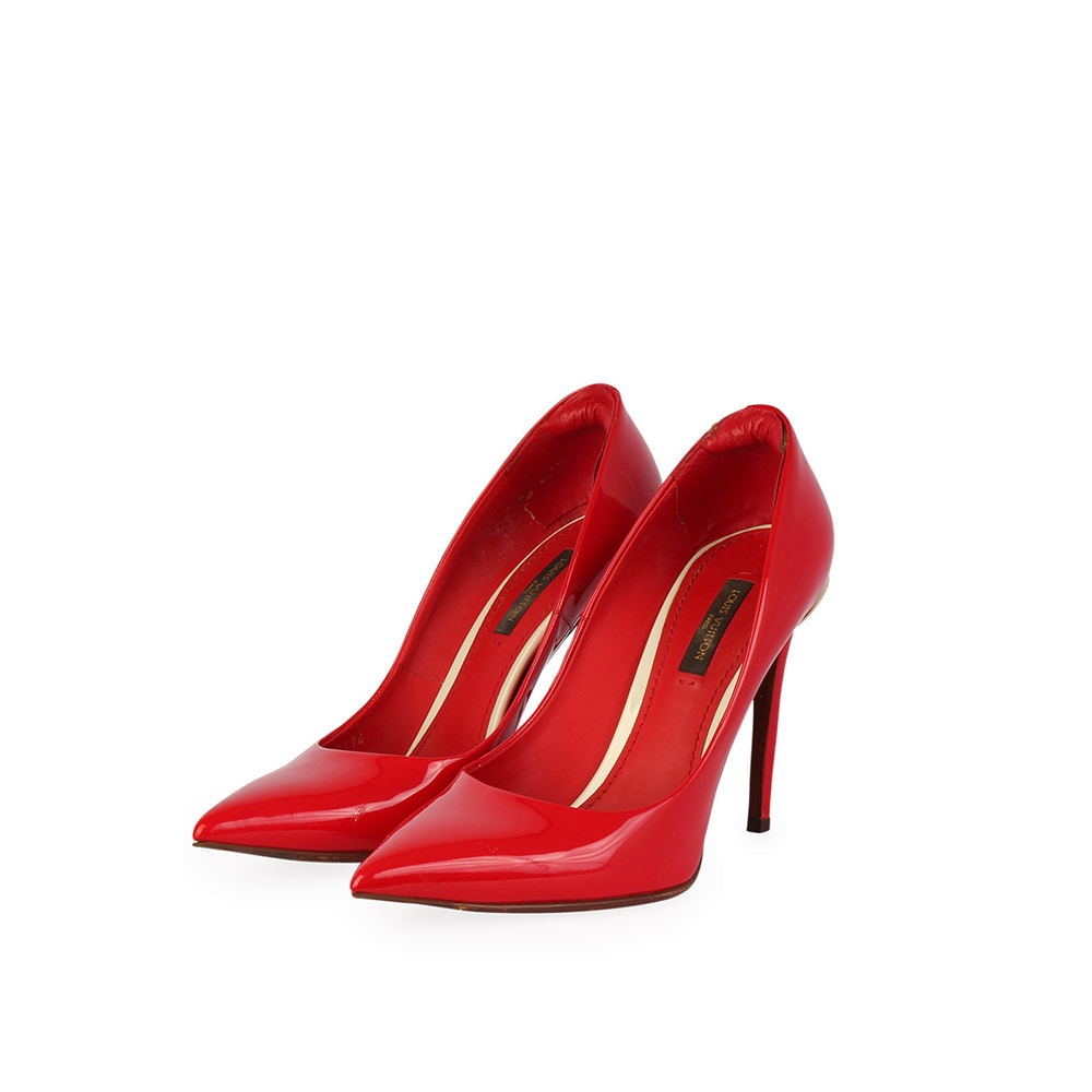 d50260c9c0cfd9 LOUIS VUITTON Patent Eyeline Pumps Red – 36.5 (3.5)