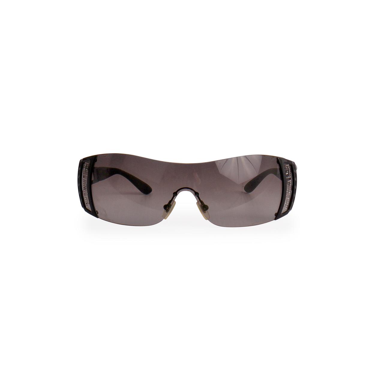 8b4ff4b74e87 VERSACE Crystals Sunglasses 2058 B Black - front