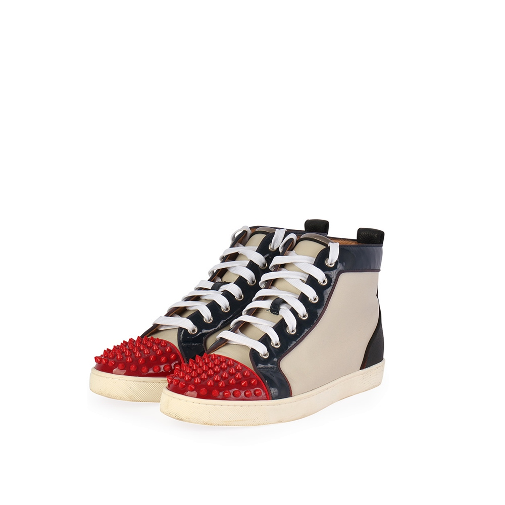 CHRISTIAN LOUBOUTIN Multicolor Patent High Top Sneakers - S  44 (9.5 ... a9f2a6ca81ba