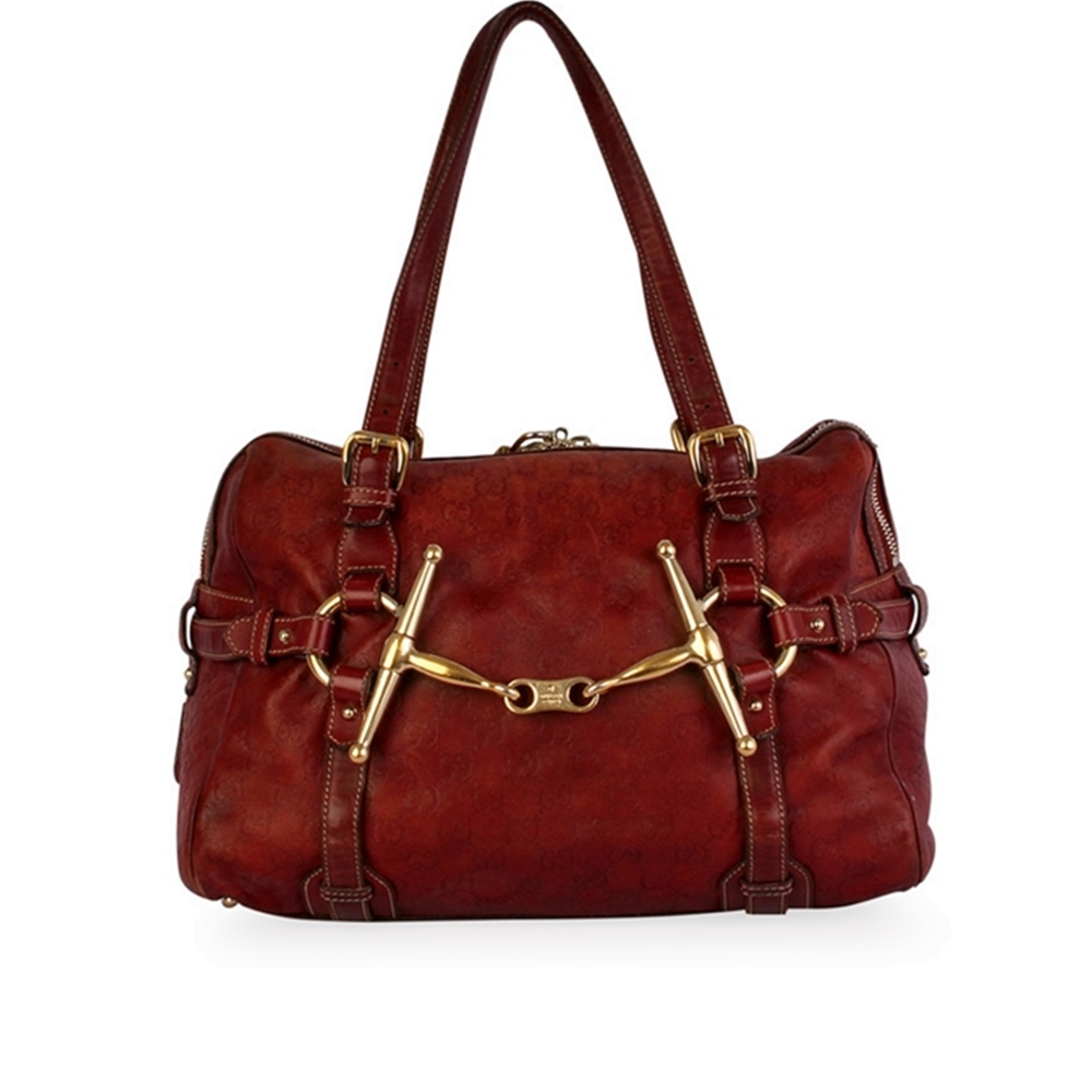 450dad6a308 GUCCI Guccissima 85th Anniversary Medium Boston Bag Brown – Limited Edition