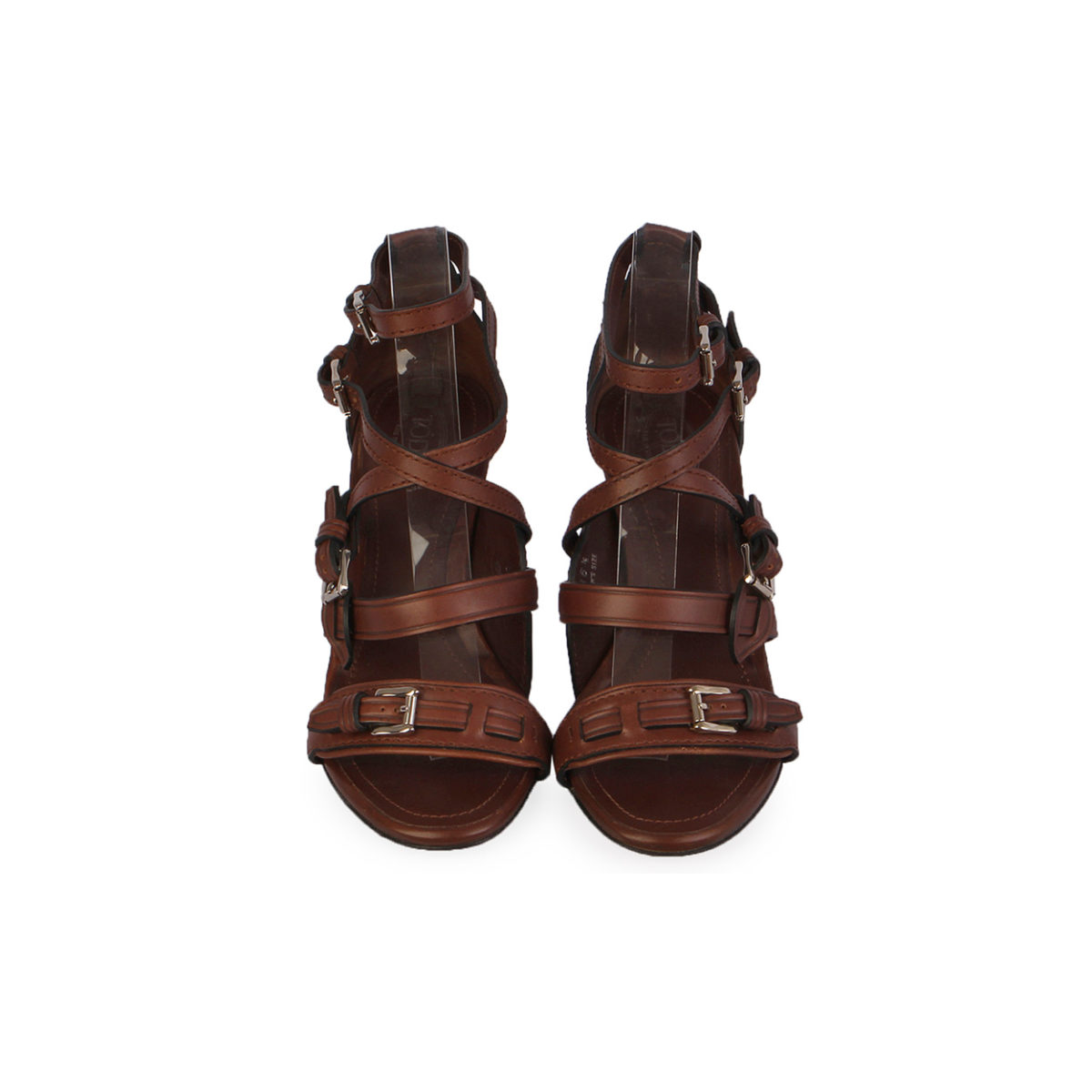 f32c63a9b914c TOD'S Leather Strappy Heels Brown – S  36.5 (3)