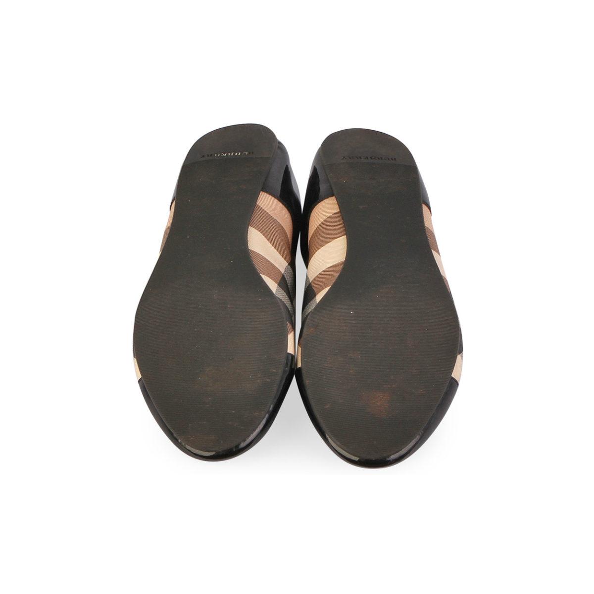 Black Leather Ballerina Shoes Uk