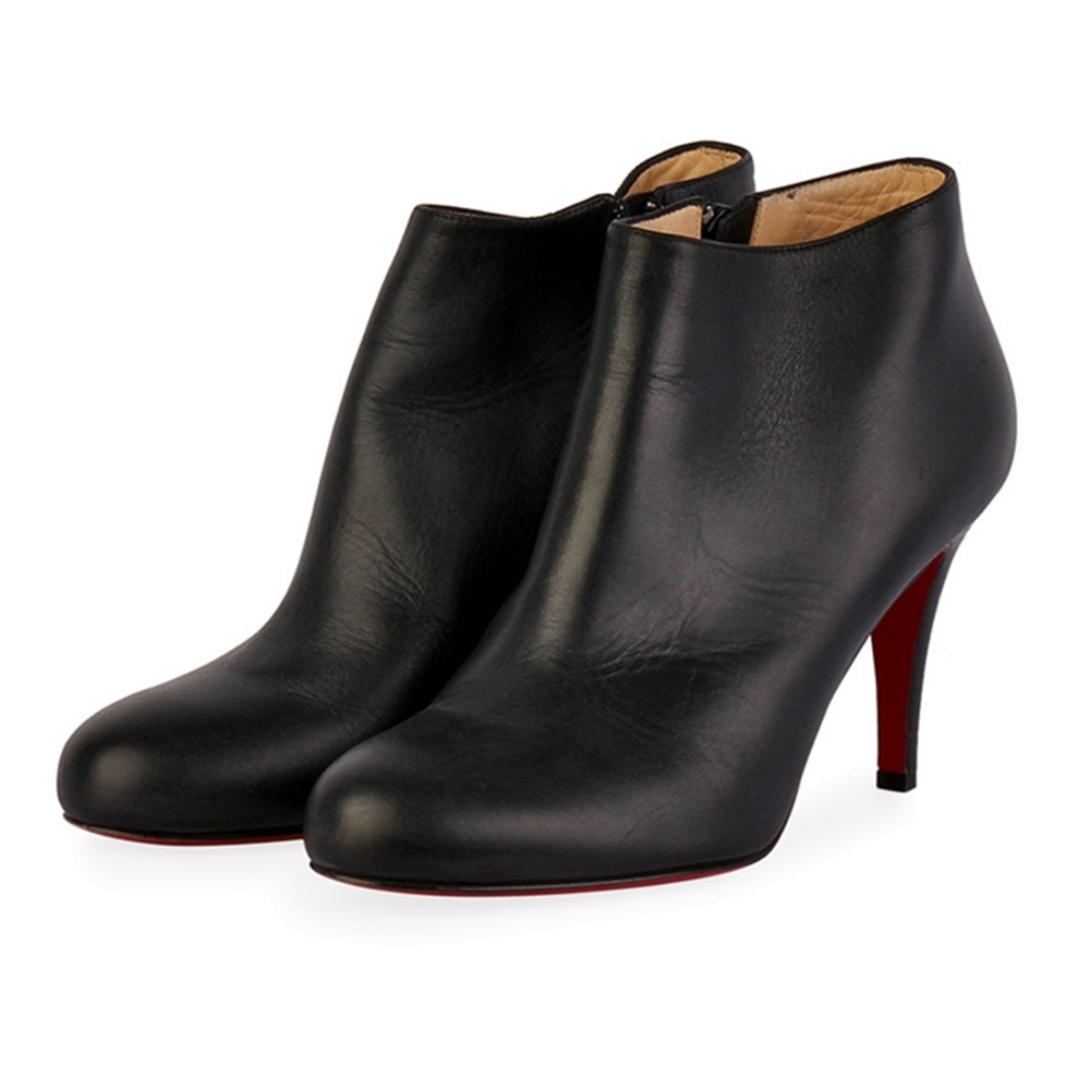 Christian Louboutin Leather Belle Ankle Booties Black S 36 3 5