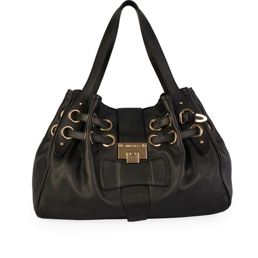 763144573f JIMMY CHOO Leather Ramona Bag Black