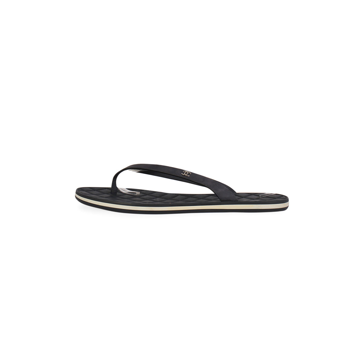 467dd04df872e1 CHANEL Calfskin Quilted Thong Flip Flop Sandals Blue - S  36.5 (3.5 ...