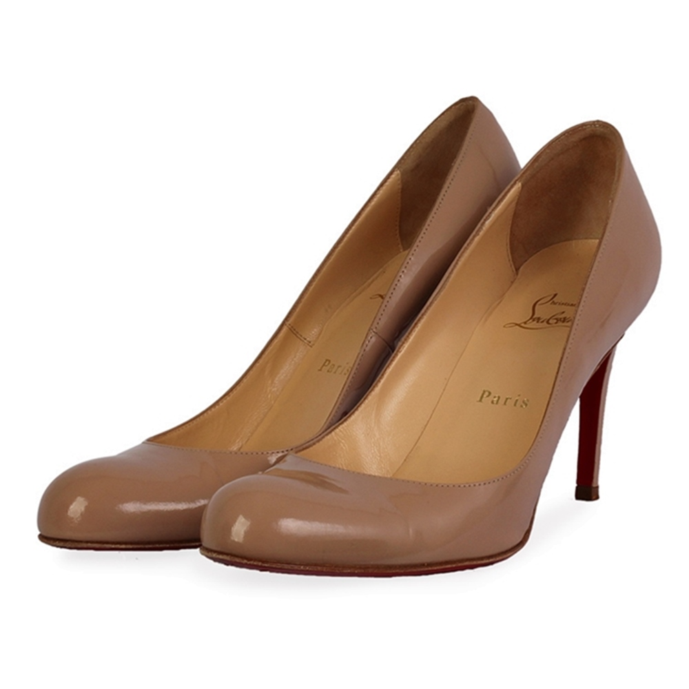 free shipping 5ce74 fa4ca CHRISTIAN LOUBOUTIN Patent Fifi 100mm Pumps Nude - S: 36 (3.5)
