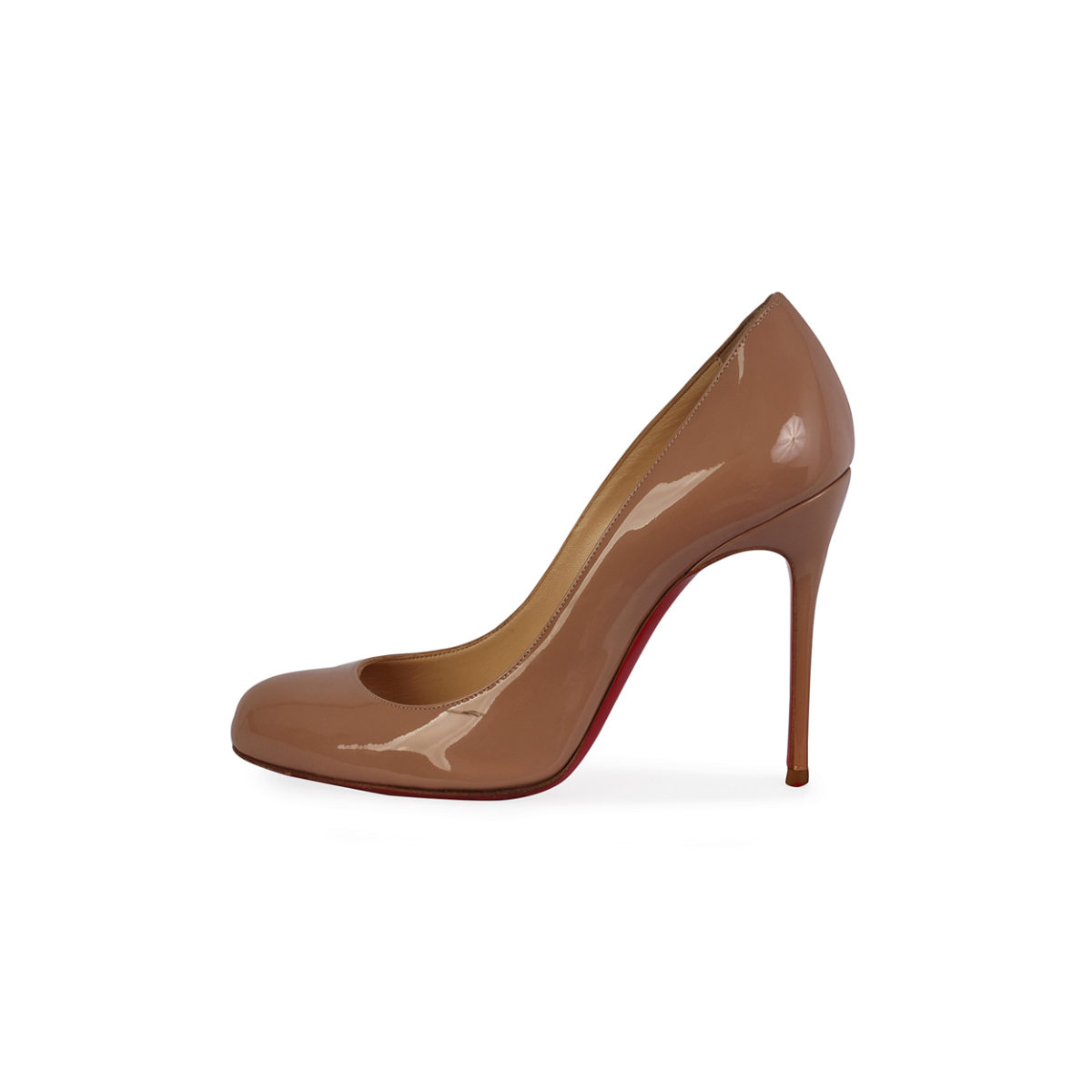 free shipping ed68f 889bf CHRISTIAN LOUBOUTIN Patent Fifi 100mm Pumps Nude - S: 36 (3.5)