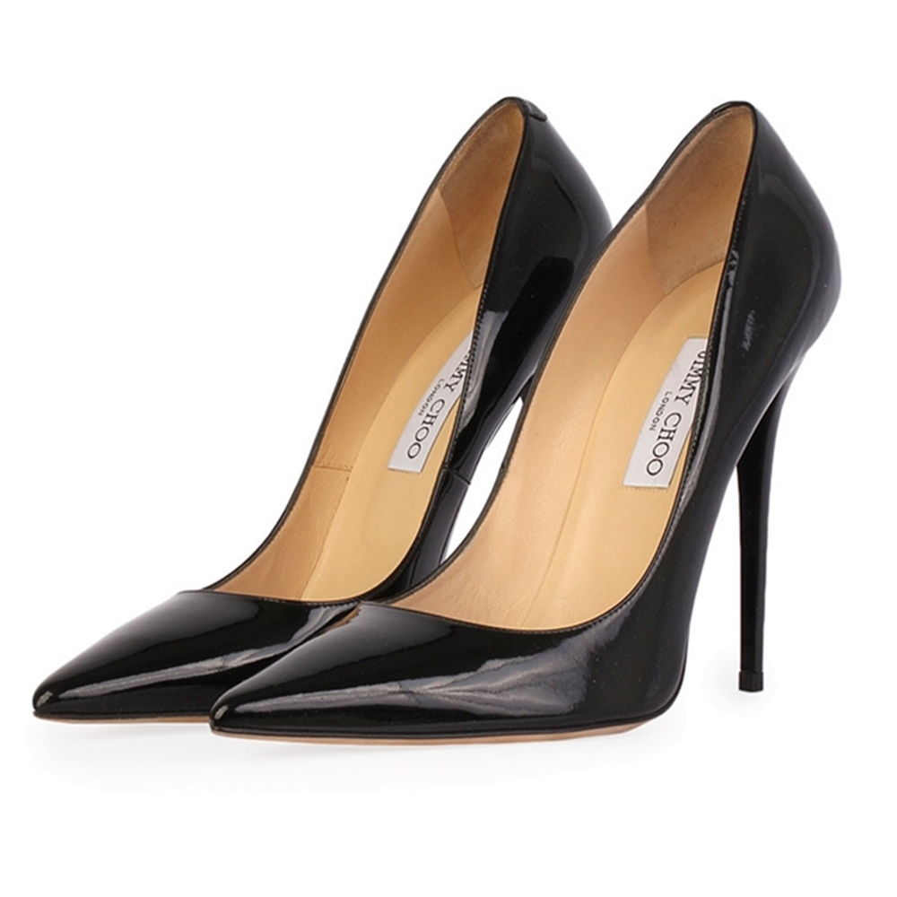 f4ba5bc6712 JIMMY CHOO Patent Pointy Toe Pumps Black – S 41 (7.5)