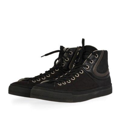5f77bc855cec LOUIS VUITTON Damier Graphite Sprinter Sneaker Boots Black – S  44.5 (10)