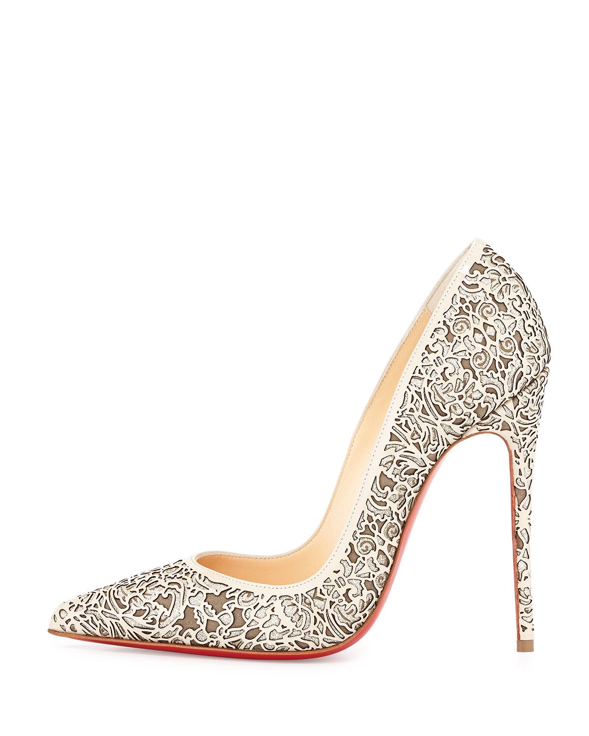 6abe6ff94e Christian Louboutin Bianca Patent 120mm Leather Pumps – approx. R12,000