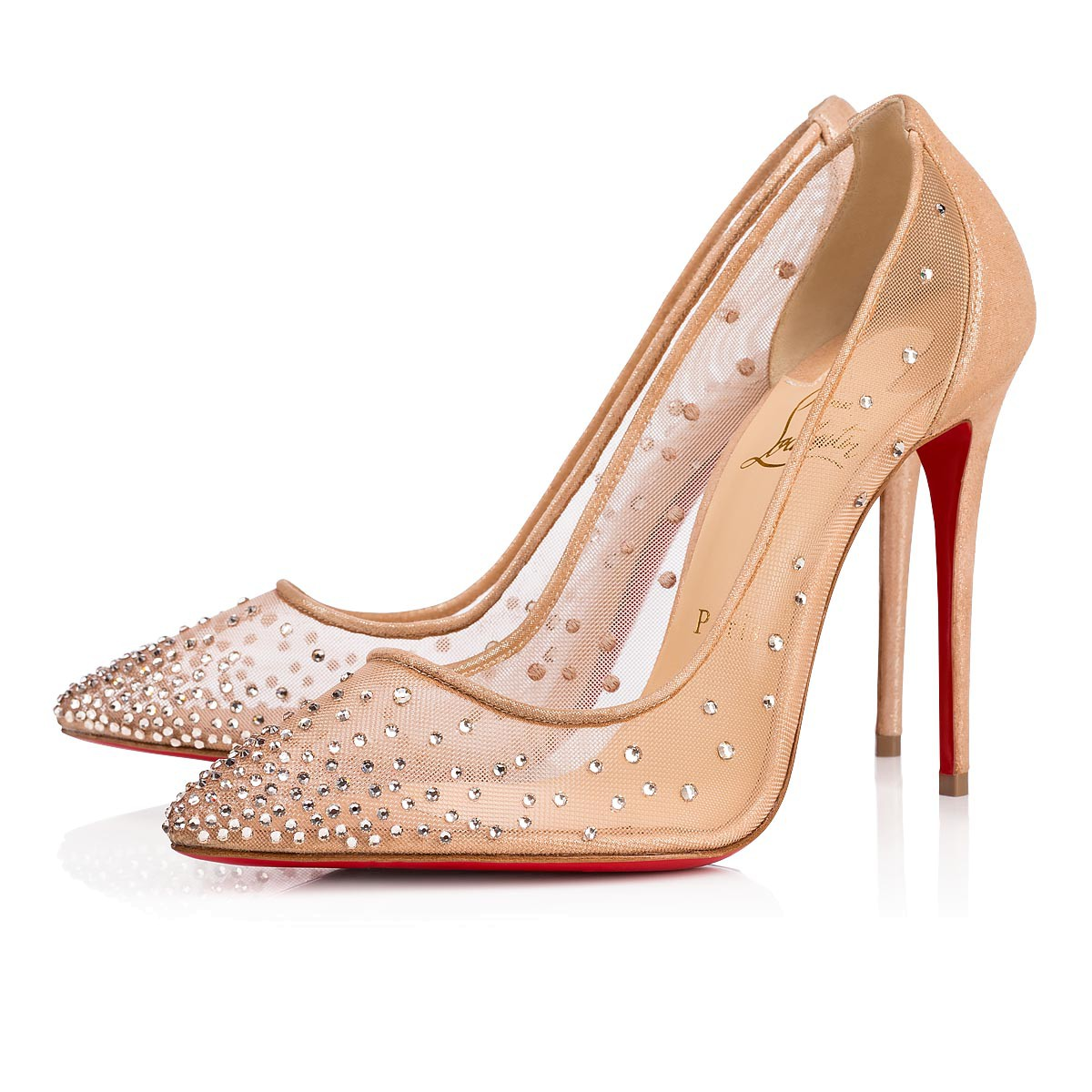 326104a8b9f6 Christian Louboutin Follies Spikes 100mm Heels – approx. R17