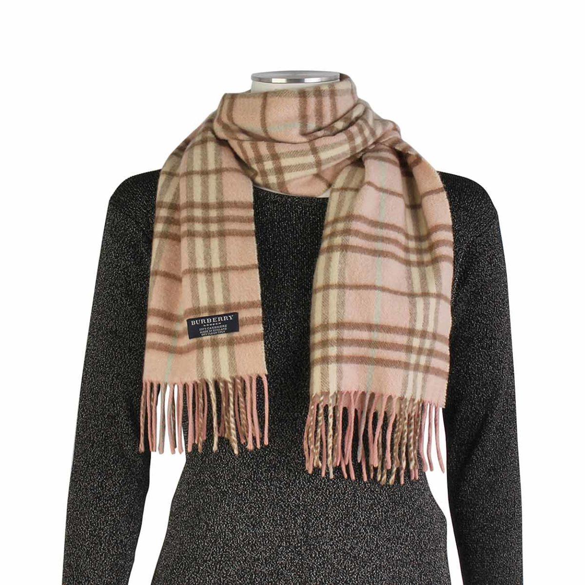 d7cd99646dbc ... real burberry cashmere nova check scarf 736a1 d68f8
