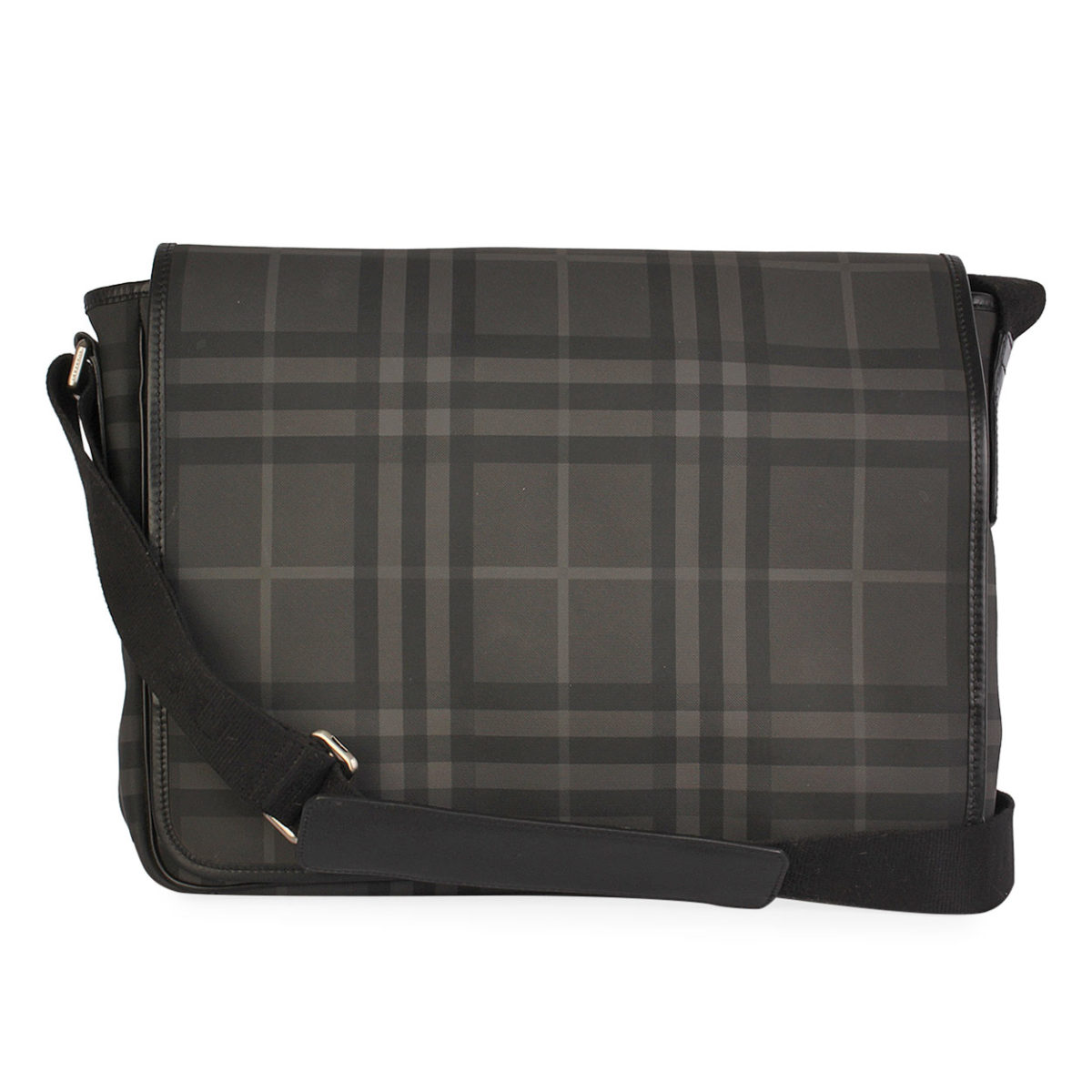 BURBERRY London Check Large Messenger Grey  0220d086aed95