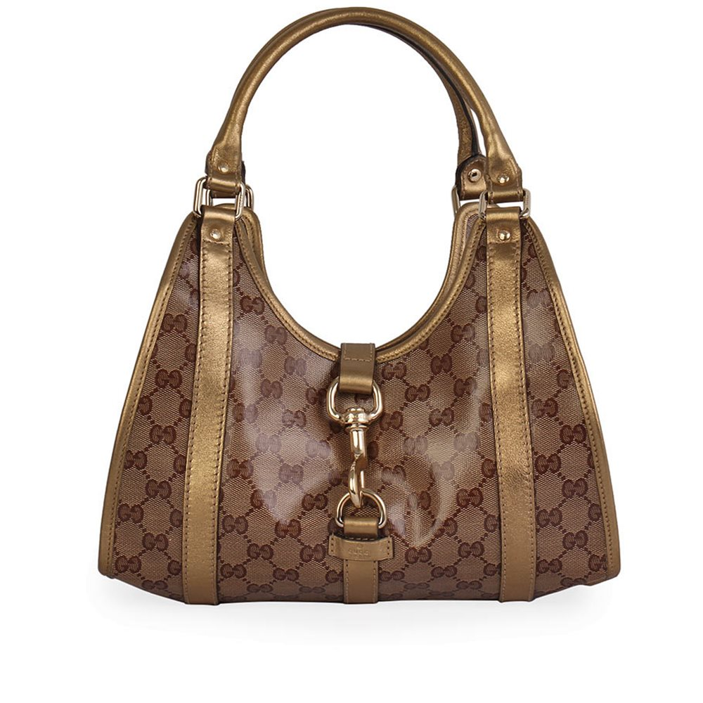 Gucci Gold Crystal Gg Jackie O Shoulder Bag