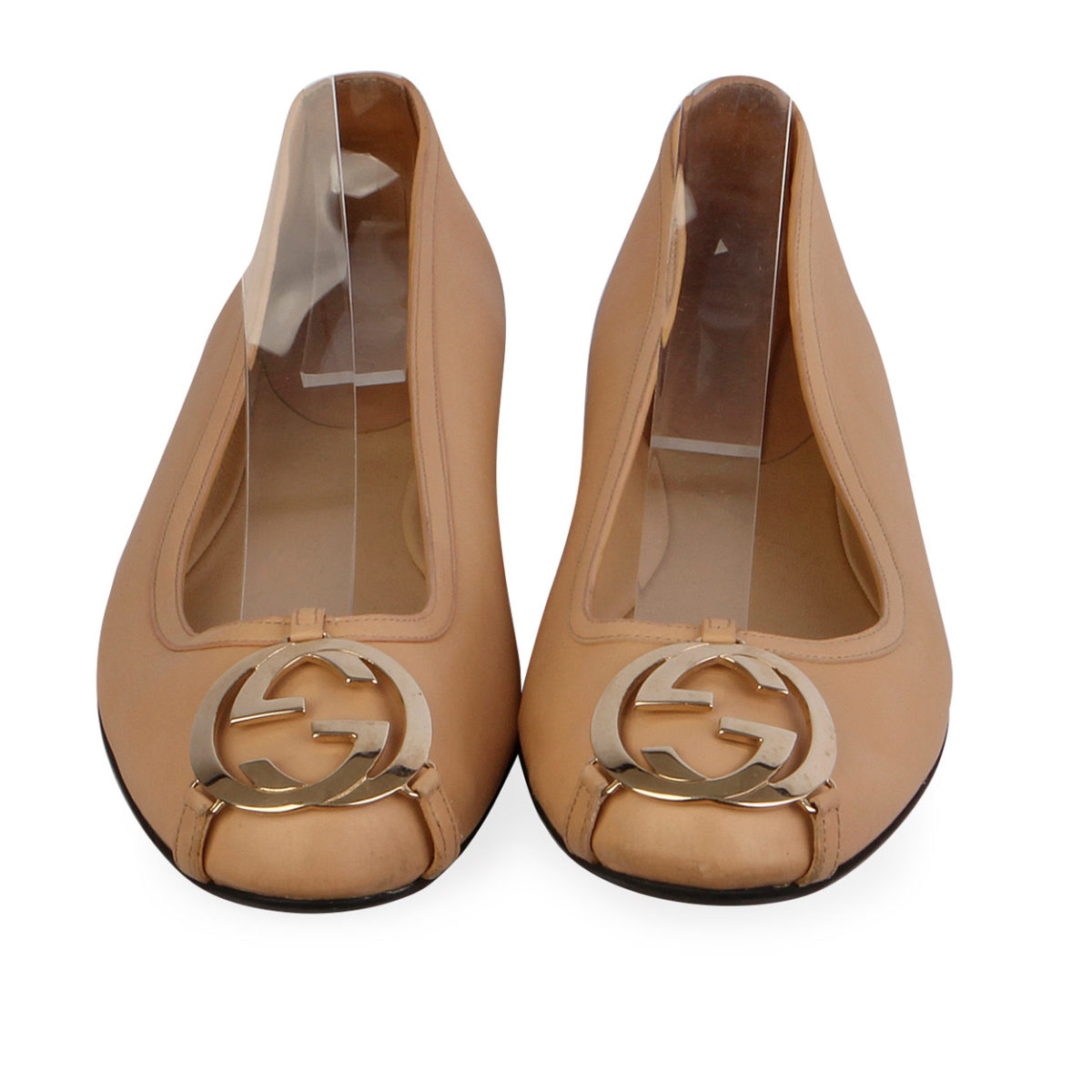 fde75063f770 GUCCI Leather GG Logo Ballerina Pumps Nude - S  36 (3.5)