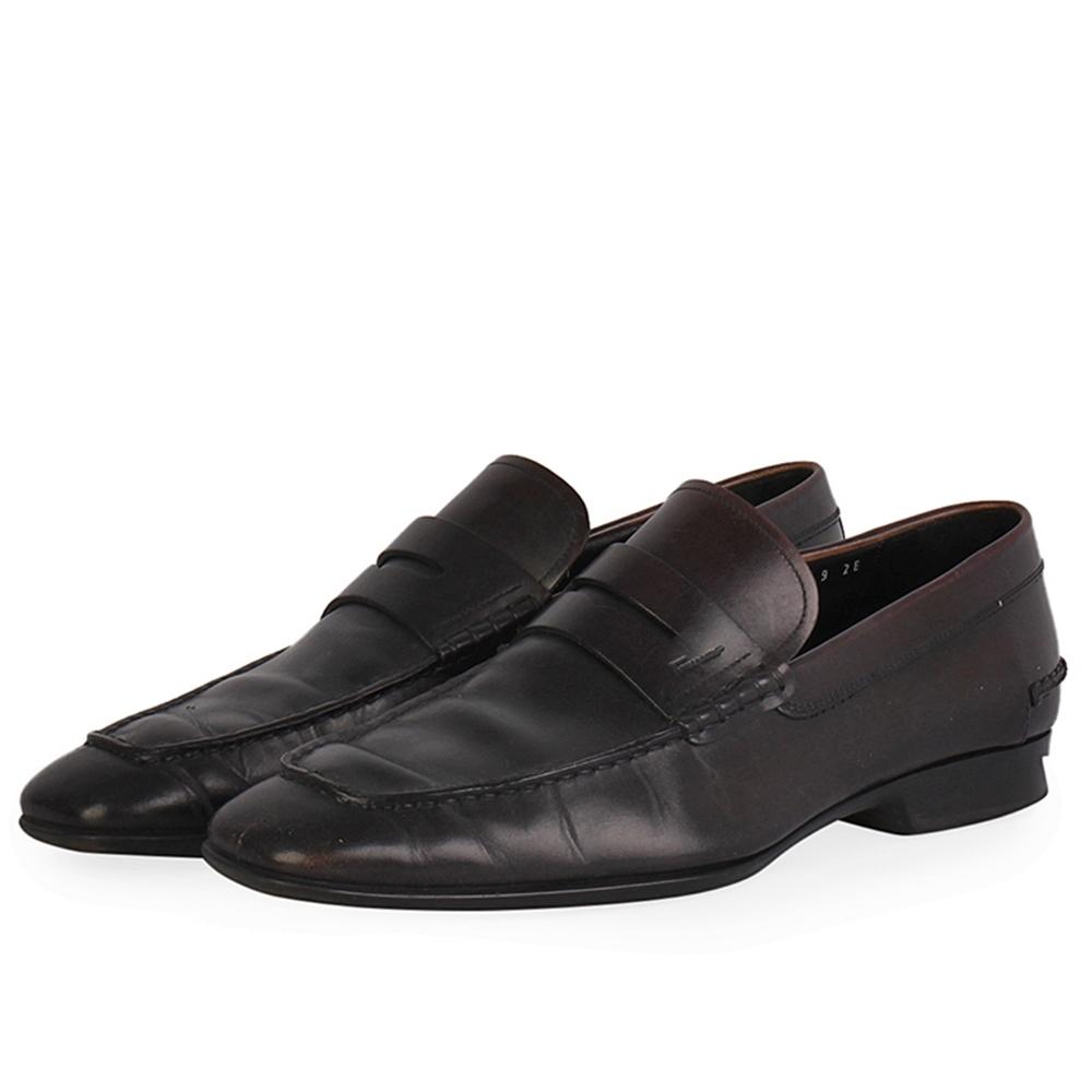 2c0db53580e8c SALVATORE FERRAGAMO Leather Penny Loafers Brown - S: 43 (9)