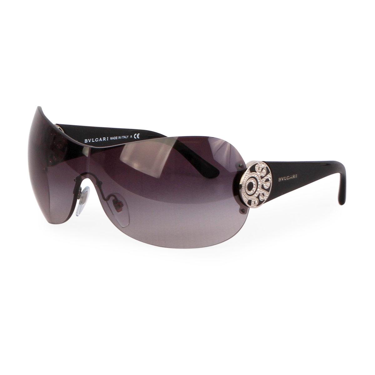 f73229d993ce4 BVLGARI Swarovski Crystal Sunglasses 6074 B Black