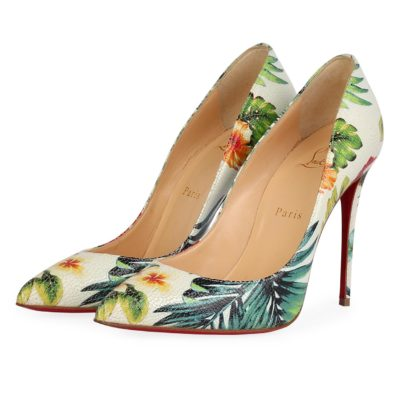 4b93991fe87a CHRISTIAN LOUBOUTIN Leather Hawaii So Kate 100 Pumps Floral – S  38 (5) –  NEW (Copy)