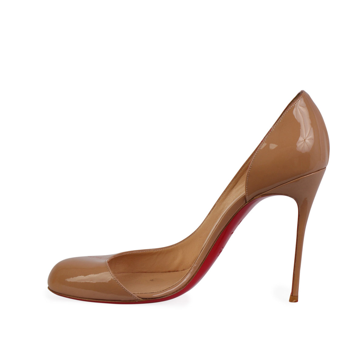 buy popular 455d1 59807 CHRISTIAN LOUBOUTIN Patent Leather Helmour 110 Pumps Nude - S: 39.5 (6)