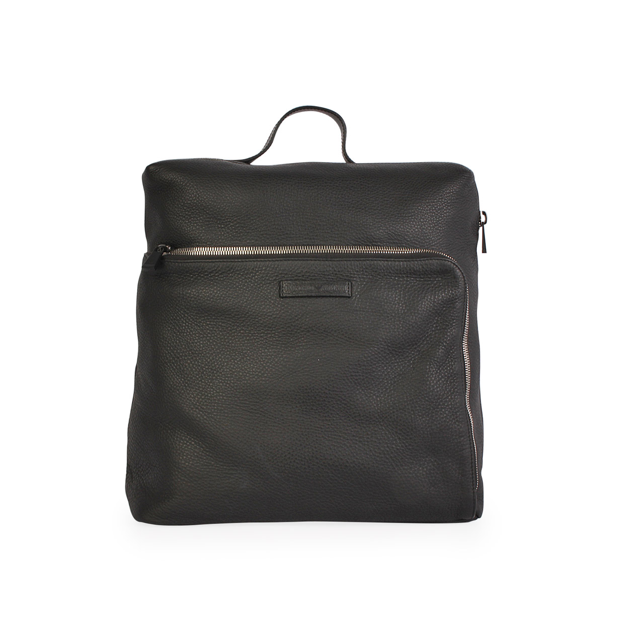 b45023b37ea3 EMPORIO ARMANI Grained Leather Backpack Black