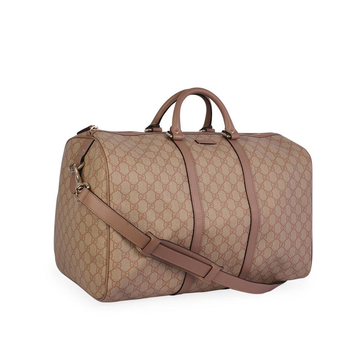 b1598b8c5cd GUCCI GG Supreme Carry-On Duffel Bag Blush