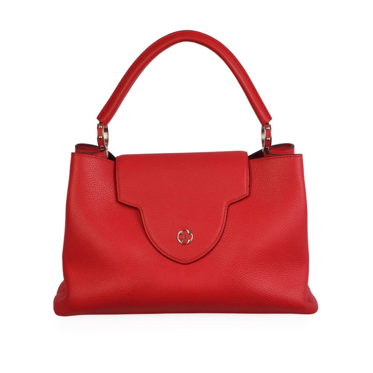 dcbaba2a555556 LOUIS VUITTON Taurillon Capucines MM Coquelicot   Luxity