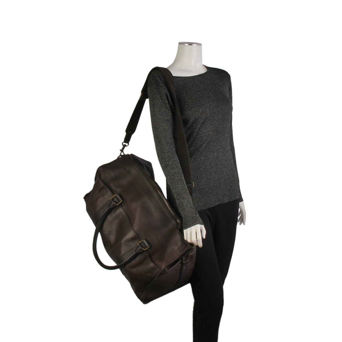 19c0230325e LOUIS VUITTON Utah Leather Commanche 55 Dark Brown | Luxity