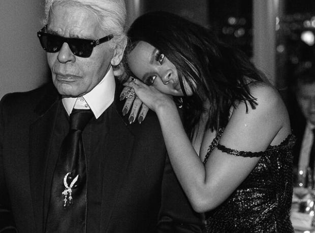 Karl Lagerfeld with Rihanna