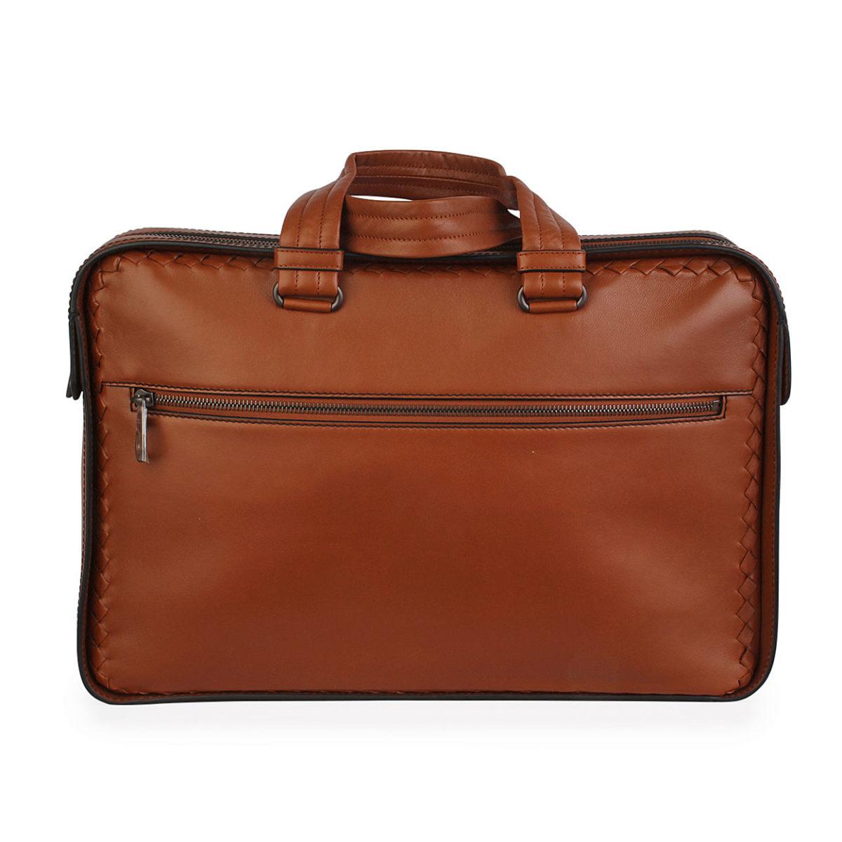 179e9836e8 BOTTEGA VENETA Leather Intrecciato Briefcase Brown
