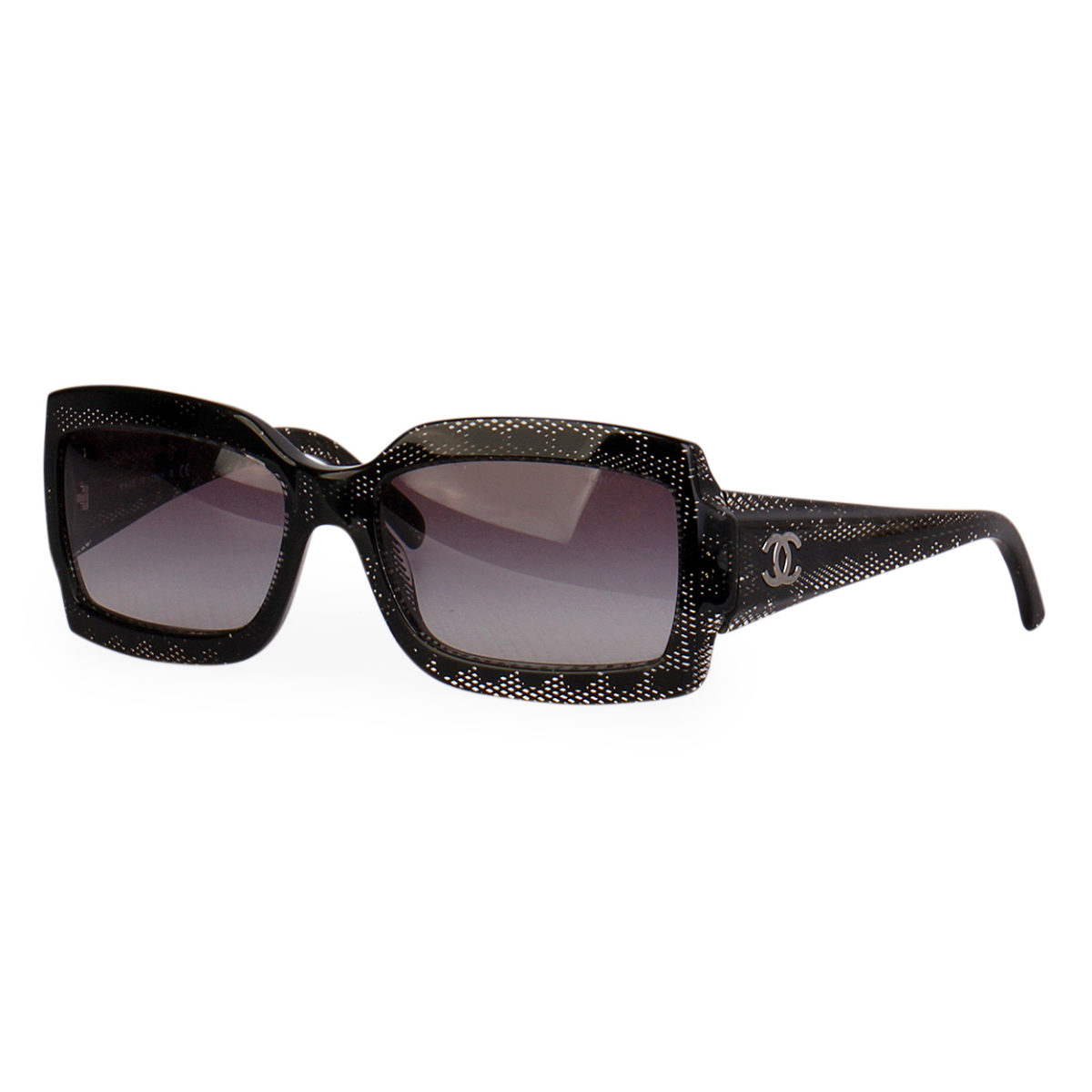99932d4271ef CHANEL Rectangle Sunglasses 5161 Black | Luxity