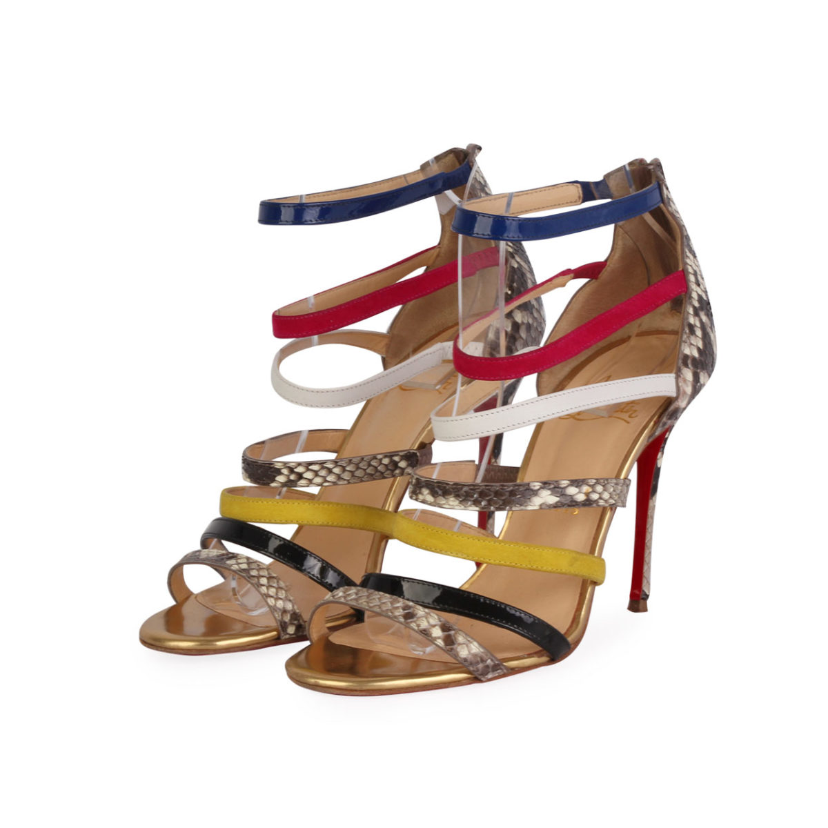 sports shoes 8b435 2c72a CHRISTIAN LOUBOUTIN Leather Mariniere Cage Pumps Multicolor - S: 37.5 (4.5)
