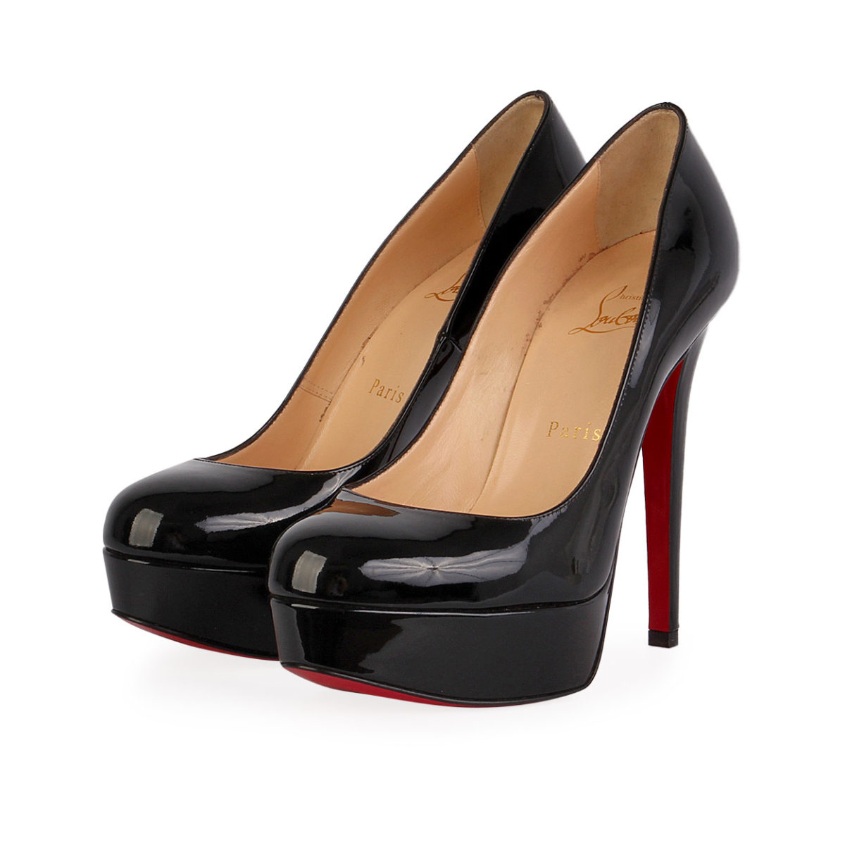 73b71f7f242 CHRISTIAN LOUBOUTIN Patent Leather Bianca 120 Pumps Black - S: 36.5 (3.5)
