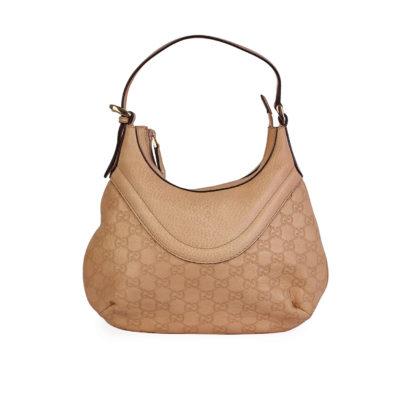 fa8f123d6 GUCCI Guccissima Hysteria Crest Small Shoulder Bag Light Beige