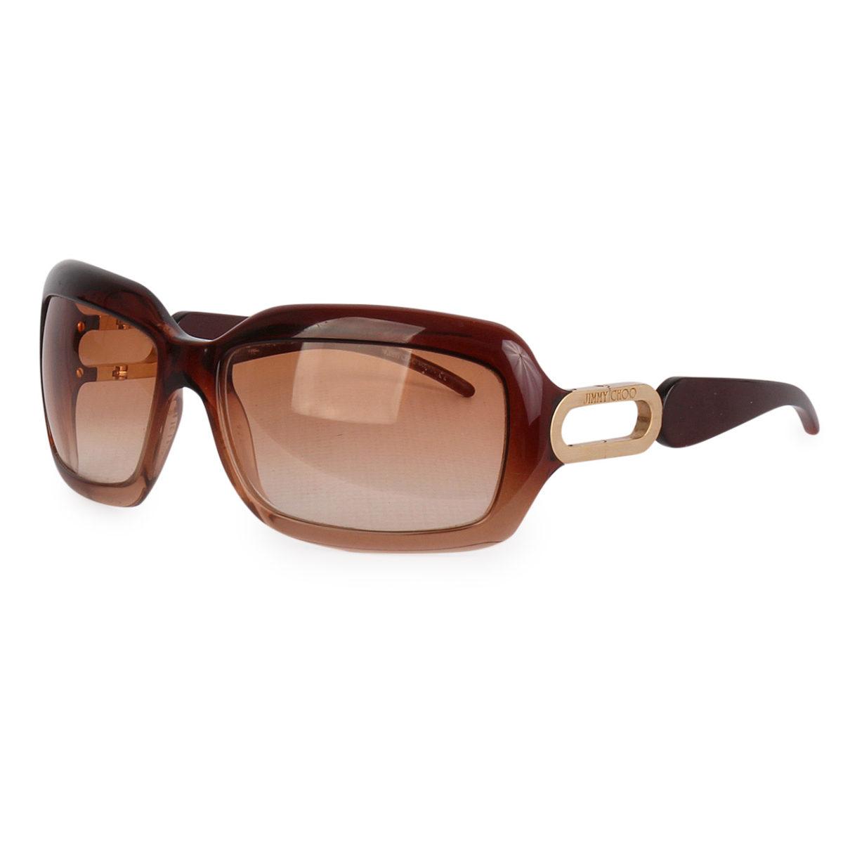 7ff7767019 JIMMY CHOO Rectangle Sunglasses Brown