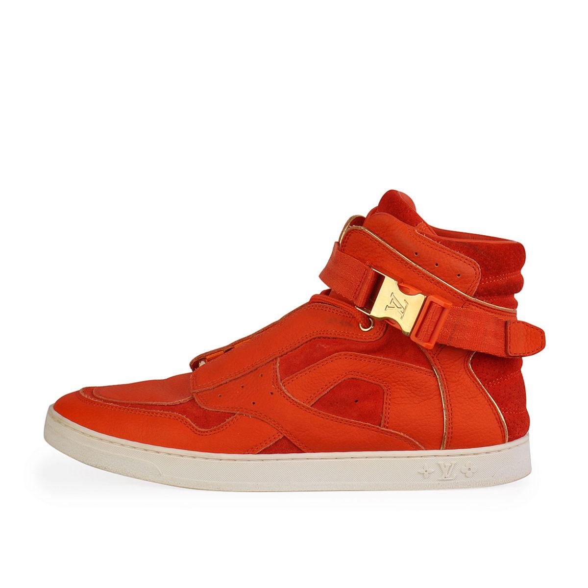 orange louis vuitton sneakers