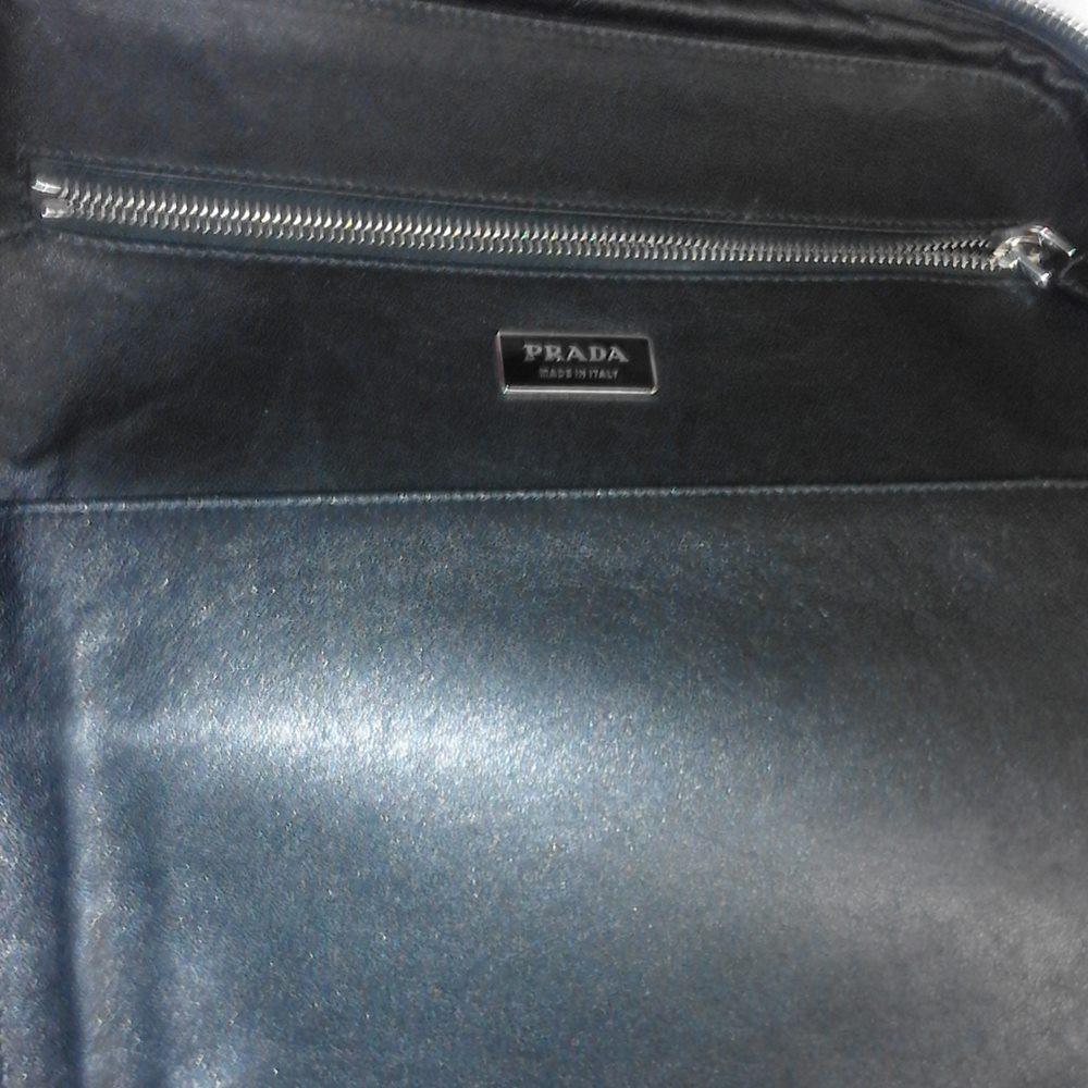 337d55febae9 PRADA Saffiano Laptop Case Black