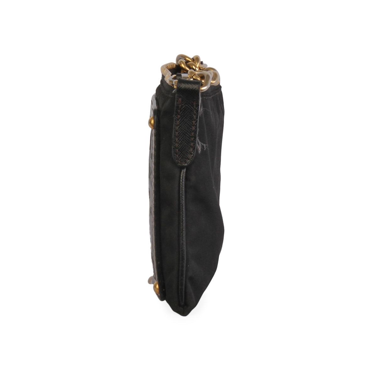 affde48d53 PRADA Saffiano Leather & Nylon Cross Body Bag Black