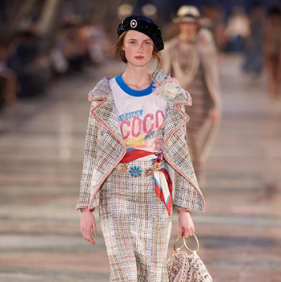 Chanel T-shirts on Runway