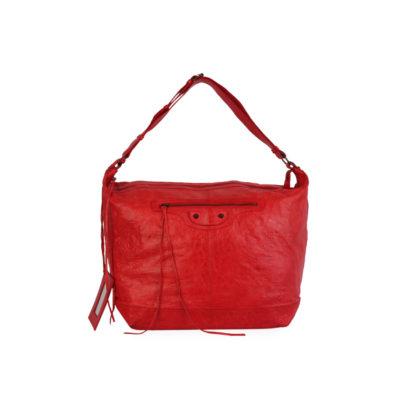 10f3c5db022b BALENCIAGA Leather Motocross XL Courier Bag Red